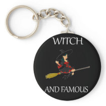 Funny Halloween Witch Apparel Withc and Famous Keychain