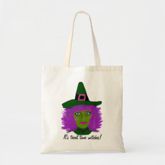 Funny Halloween Witch Budget Tote