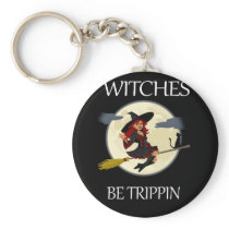 Funny Halloween Witch Clothing Halloween Witches Keychain