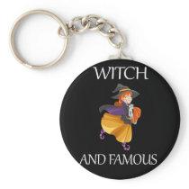 Funny Halloween Witch Design Halloween Witch and Keychain