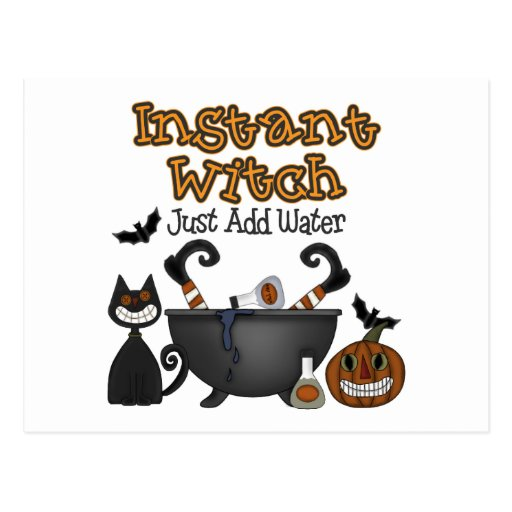 Funny Halloween Witch Postcards