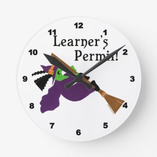 Funny Halloween Witch Wall Clocks