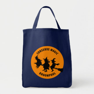 Funny Halloween Witches Tote Bags