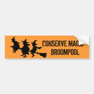 Funny Halloween Witches Bumper Sticker