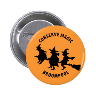 Funny Halloween Witches Button