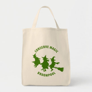 Funny Halloween Witches Green Bag