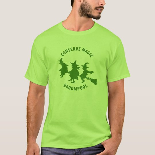 Funny Halloween Witches Green T-Shirt