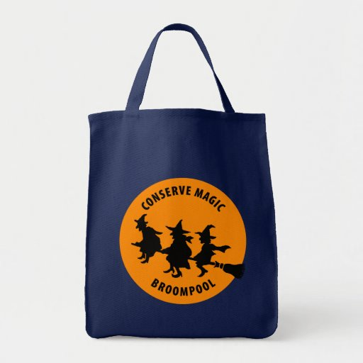 Funny Halloween Witches Grocery Tote Bag