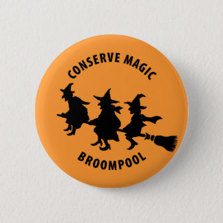 Funny Halloween Witches Pinback Button