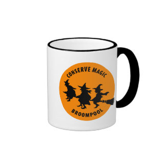 Funny Halloween Witches Ringer Coffee Mug