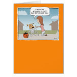 Funny Halloween Woof Man Greeting Card