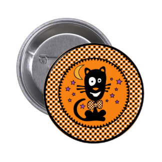 Funny Hallowen Kitty Button (Rnd)