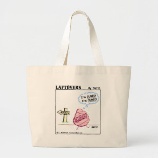Funny Ham  Cartoon Reusable Grocery Large Tote Bag