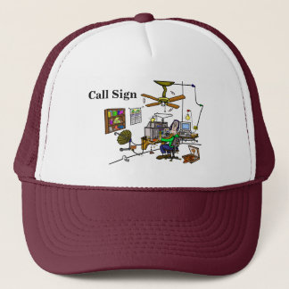 Funny Ham Cave Ham Radio Cap.   Customize It! Trucker Hat