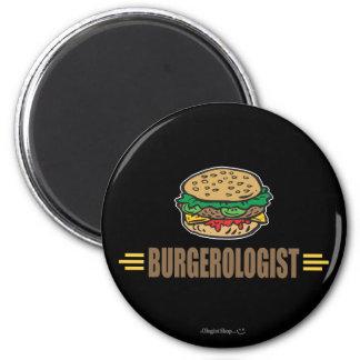 Funny Hamburger 2 Inch Round Magnet