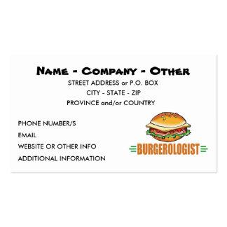 Funny Hamburger Business Card