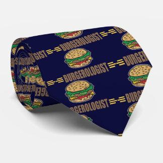 Funny Hamburger Cheeseburger Neck Tie
