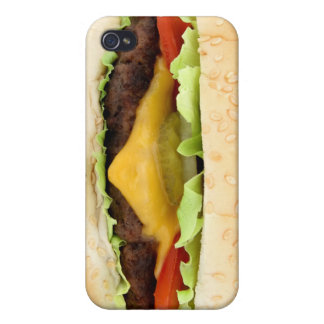 funny hamburger iPhone 4/4S cases