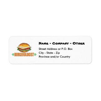 Funny Hamburger Labels