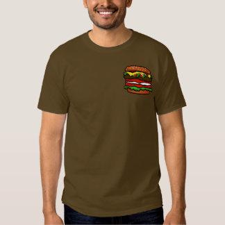 Funny Hamburger Mens Brown T-shirt