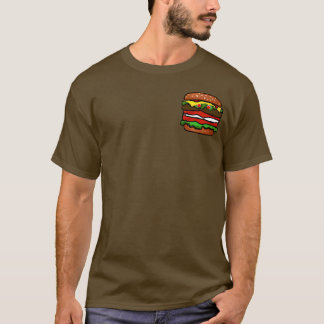 Funny Hamburger Mens Brown T-shirt