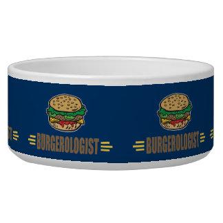 Funny Hamburger Dog Bowls