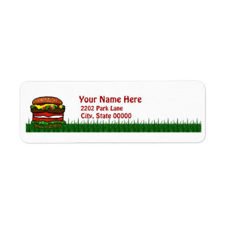 Funny Hamburger Picnic Return Address Label