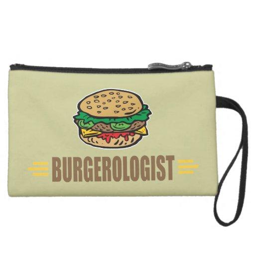 Funny Hamburger Wristlet Purses