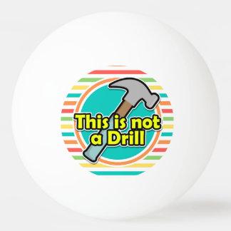 Funny Hammer; Bright Rainbow Stripes Ping-Pong Ball