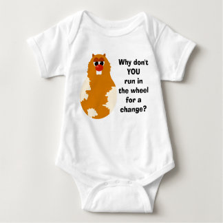 Funny Hamster Baby Bodysuit