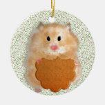 Funny Hamster Character illustration Christmas Tree Ornaments