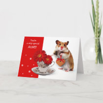 Funny Hamster. For Aunt on Mother's Day Cards