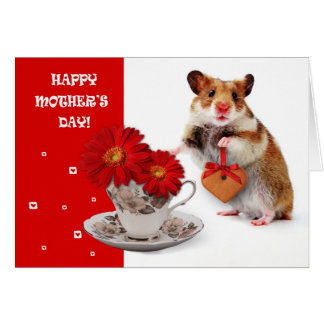 Funny Hamster  Mother's Day Customizable Card