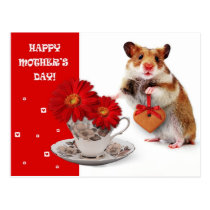 Funny Hamster Mother's Day Customizable Postcards