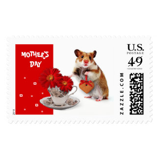 Funny Hamster Mother's Day Postage Stamps