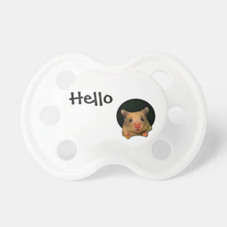 Funny Hamster Peeking Out Baby Pacifier