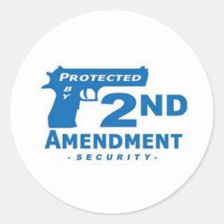 Funny handgun sticker, pro gun hard hat sticker