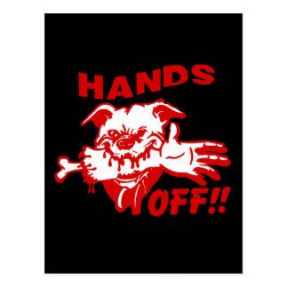 Funny Hands Off Dog Postcard