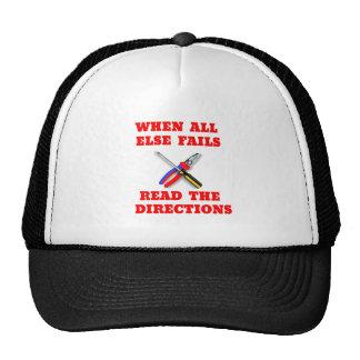 Funny Handyman Directions Cap Hat