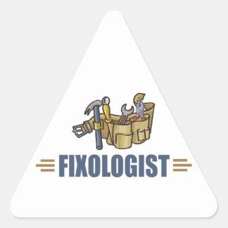 Funny Handyman Triangle Sticker