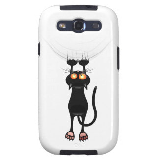 Funny Hang On Cat Galaxy SIII Cover