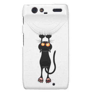 Funny Hang On Cat Motorola Droid RAZR Covers