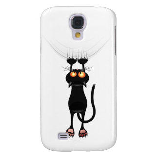 Funny Hang On Cat Samsung Galaxy S4 Cover