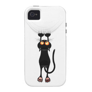 Funny Hang On Cat Vibe iPhone 4 Case