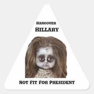 Funny Hangover Hillary Clinton Stickers