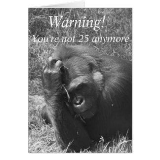 Funny Hangover Monkey Birthday Card