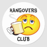 Funny Hangovers Club Sticker
