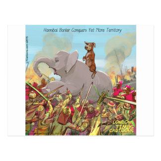 Funny Hannibal Barca Conquers Land Postcard