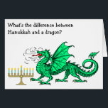 """Funny Hanukkah Card<br><div class=""""desc"""">This card celebrates Hanukkah with a funny Hanukkah riddle! It&#39;s not available anywhere but here on Eric&#39;s Fun Factory at Zazzle.</div>"""