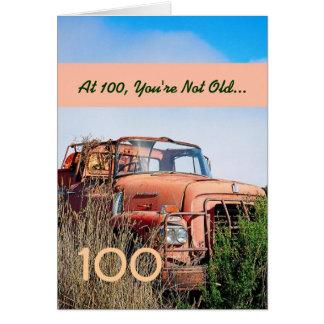 FUNNY Happy 100th Birthday Vintage Truck 100A Card